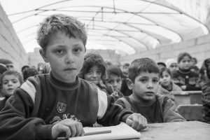 Syrian IDP children in school (Atmeh, Syria)